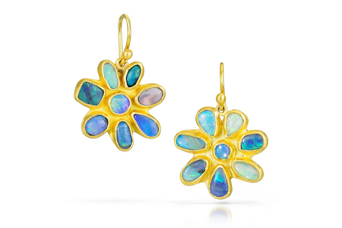 Stephanie Albertson 22k gold opal earrings