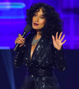 Tracee Ellis Ross American Music Awards 2017 Rona Pfeiffer necklace