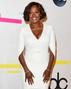 Viola Davis American Music Awards 2017 LeVian jewelry