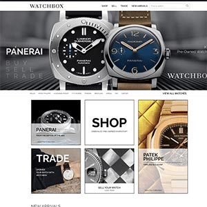 WatchBox preowned watch trading site