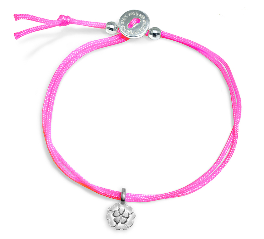 Alex Woo mini neon pink cord bracelet | JCK On Your Market