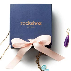 Rocksbox package with jewelry