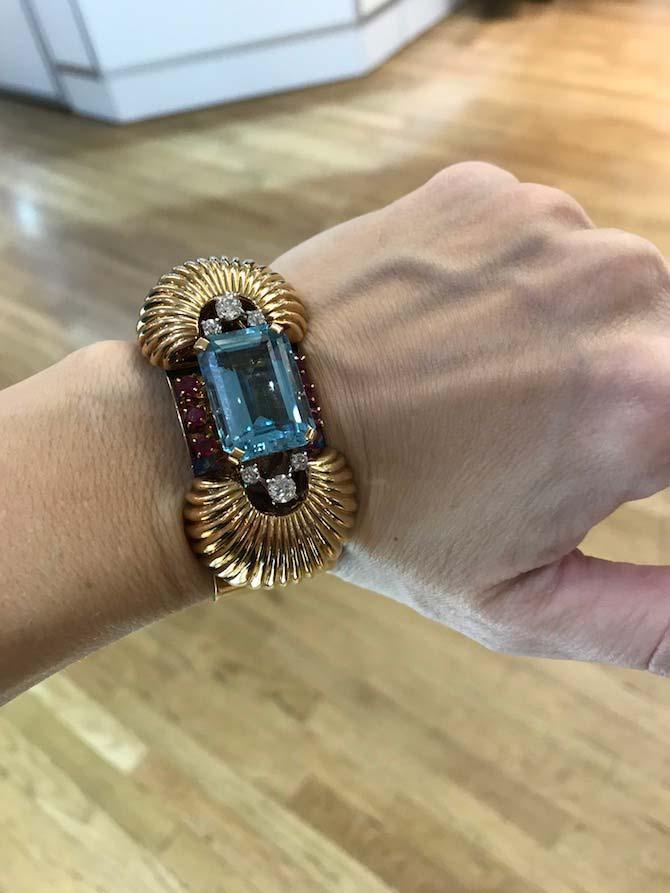 11 October Cartier 40s Aqua bracelet