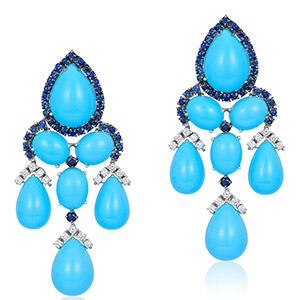 Andreoli turquoise chandelier earrings
