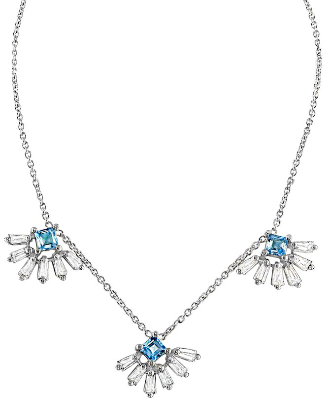 Ayva aquamarine Kela necklace