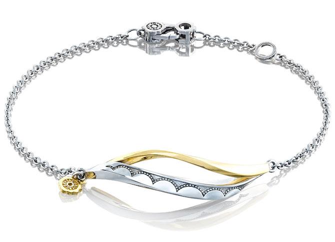 Tacori Crescent Cove silver wave bracelet