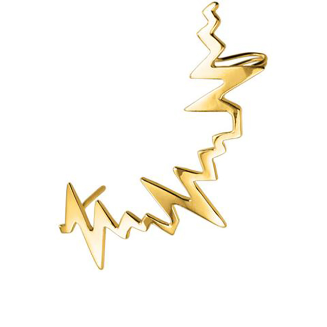 Delphine Leymarie Amour Gold Heartbeat Earclimber