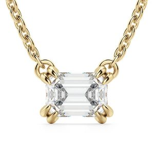 Diamond Nexus East West pendant in yellow gold
