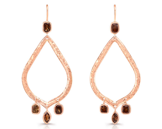 Dorian and Rose cognac diamond earrings