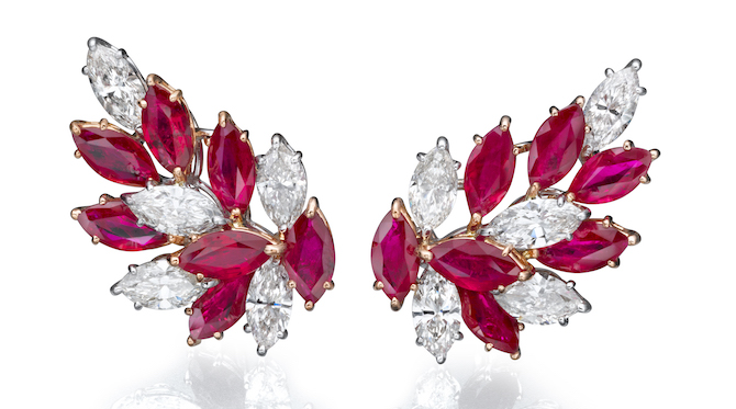 Butani ruby and diamond earrings | JCK On Your Market
