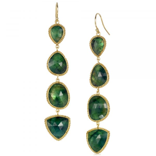 Amali emerald drop earrings