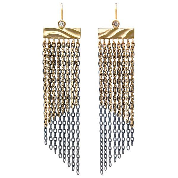 K Mita fringe earrings