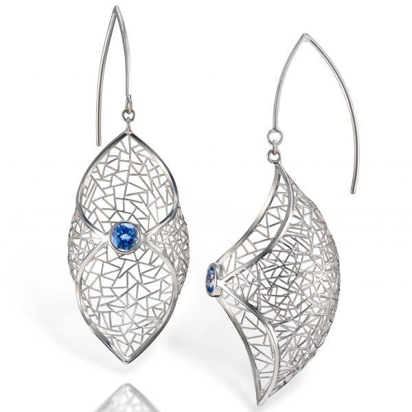 Baiyang Qiu sapphire earrings