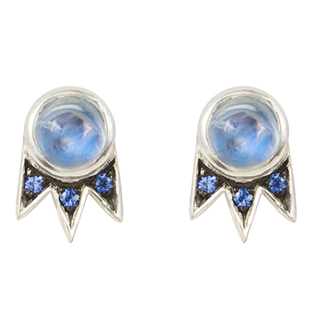 M. Spalten Starburst moonstone earrings | JCK On Your Market
