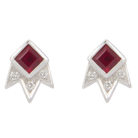 M. Spalten Starburst ruby earrings | JCK On Your Market