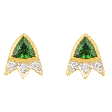 M. Spalten Starburst tsavorite earrings | JCK On Your Market