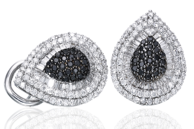Yvel black and white diamond earrings | JCK On Your Market