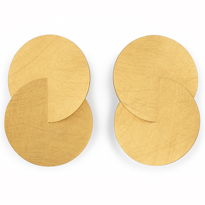 Marcin Zaremski gold stud earrings | JCK On Your Market