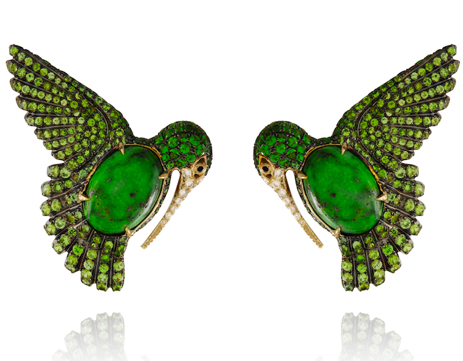 Lydia Courteille hummingbird earrings | JCK On Your Market