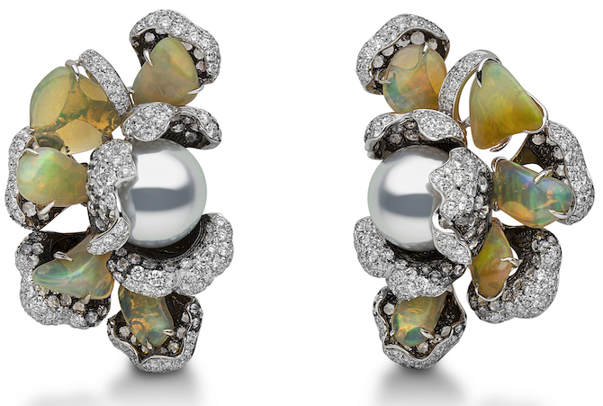 Yoko London pearl and opal earrings | JCK On Your Market