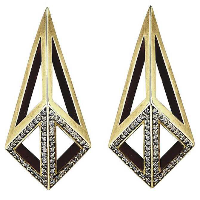 Moratorium Kimers half pave earrings | JCK On Your Market