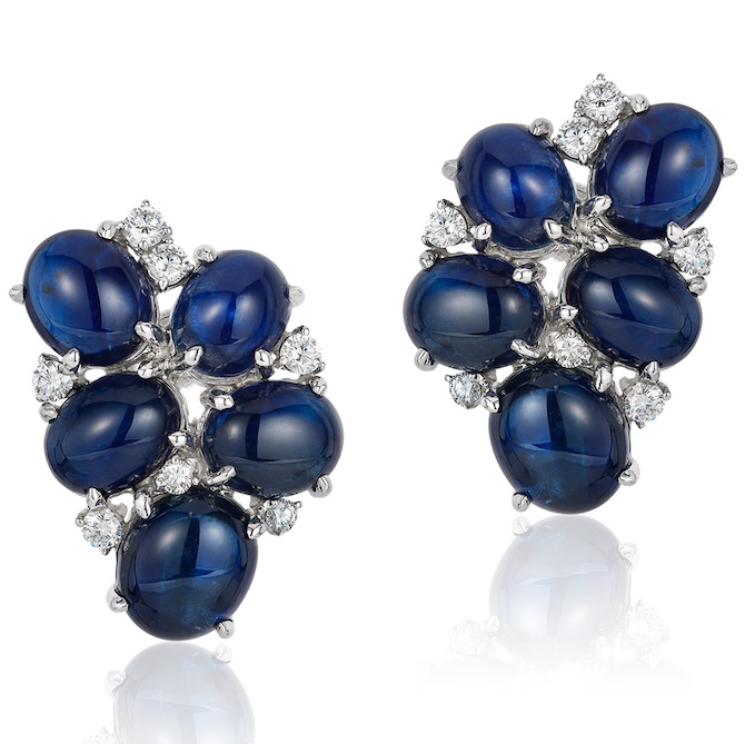 Andreoli cabochon sapphire earrings | JCK On Your Market