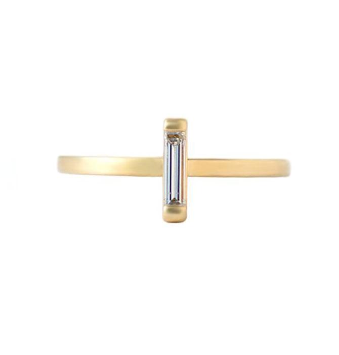 Elongated Shape Elliot Gaskin Baguette Ring