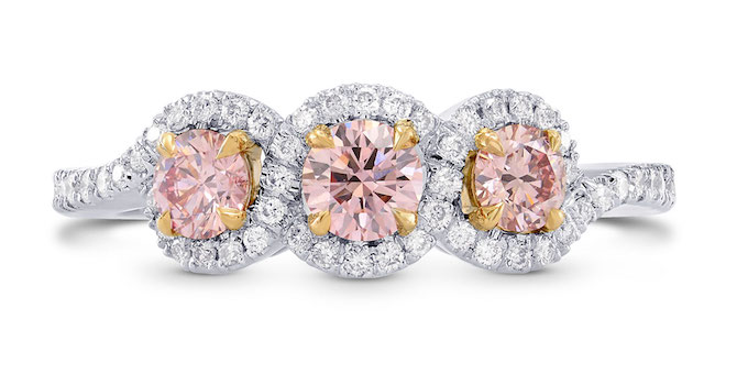 Leibish and Co. fancy pink diamond engagement ring | JCK On Your Market