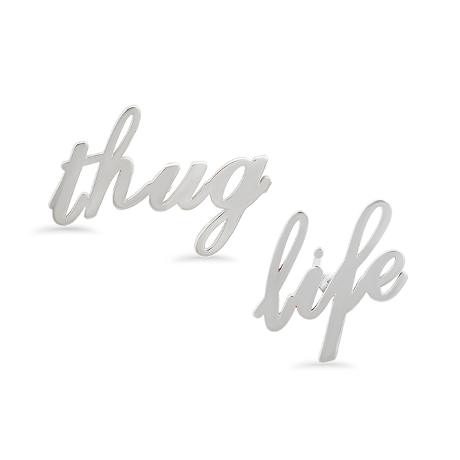 Established thug life earrings
