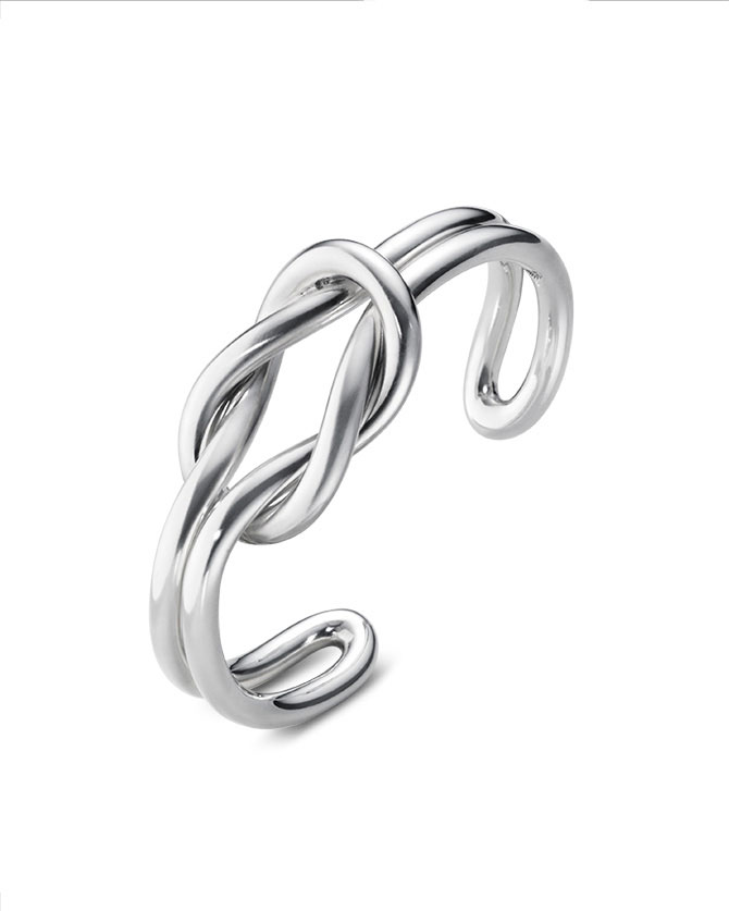 Georg Jensen Silver Knot Bangle