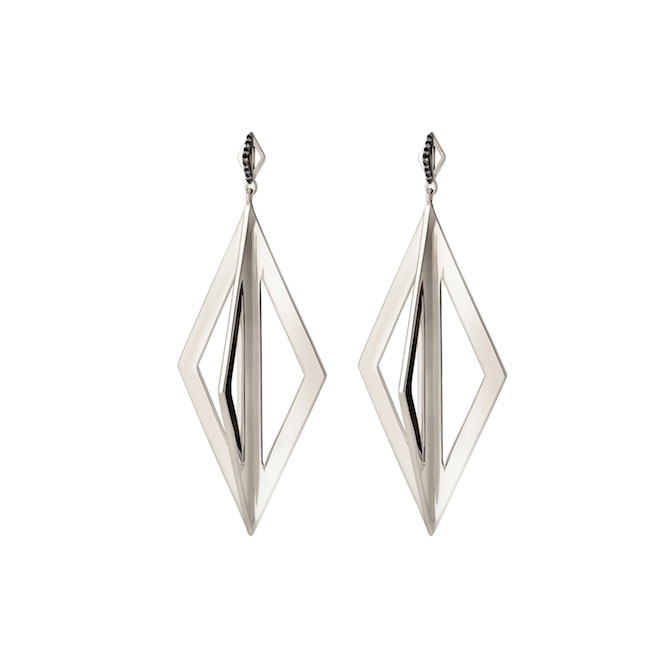 Gillian Steinhardt Silver Pierrot Drop earring silver copy