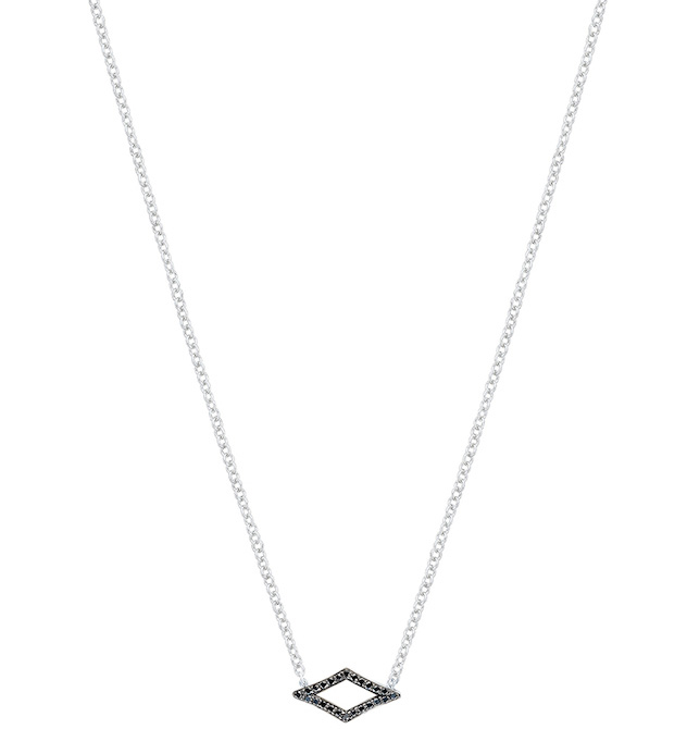 Tacori Ivy Lane black diamond chevron pendant in silver