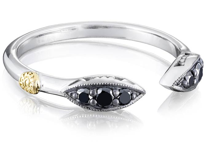 Tacori Ivy Lane black diamond and silver ring