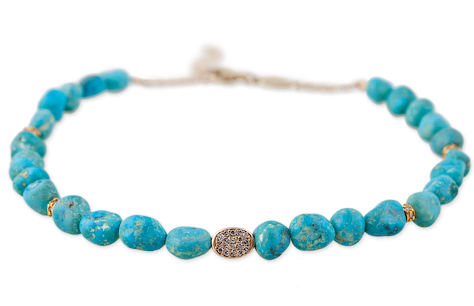 Jacquie Aiche turquoise anklet | JCK On Your Market