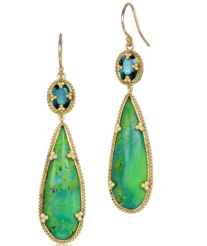 Amali Jewelry green turquoise earrings | JCK On Your Market