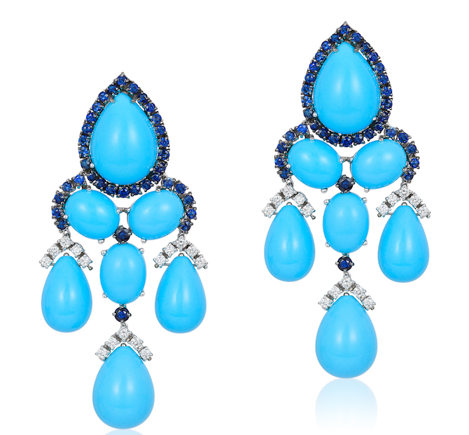 Andreoli turquoise chandelier earrings | JCK On Your Market