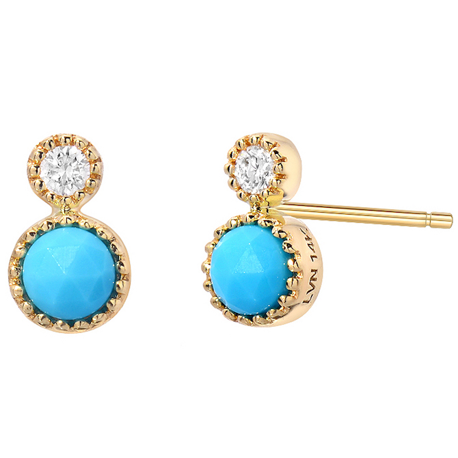 Liven Co. Orbit turquoise stud earrings | JCK On Your Market
