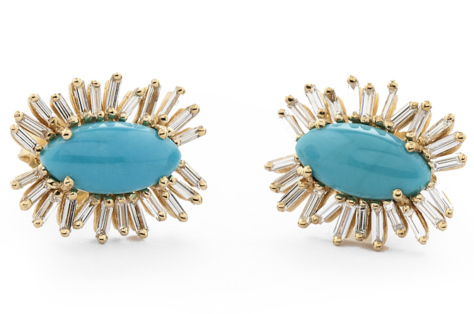 Suzanne Kalan turquoise evil eye Fireworks earrings | JCK On Your Market