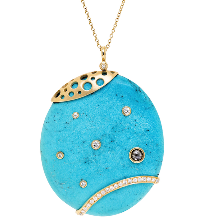 Dana Bronfman Hats off to Sleeping Beauty Turquoise pendant | JCK On Your Market