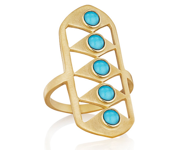 Doryn Wallach turquoise Gladiator ring | JCK On Your Market