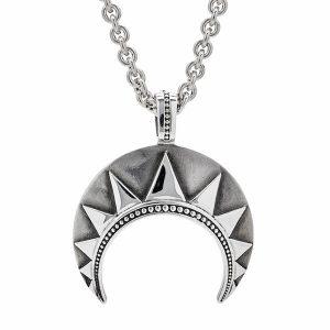 chasseur silver crescent pendant