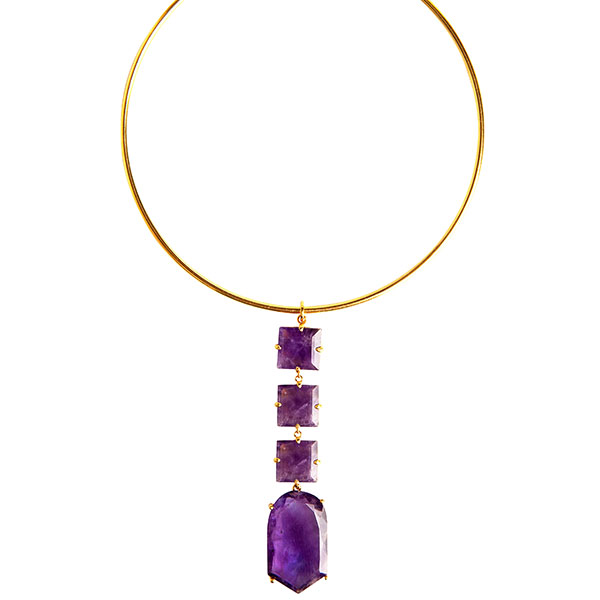 Bounkit amethyst choker necklace