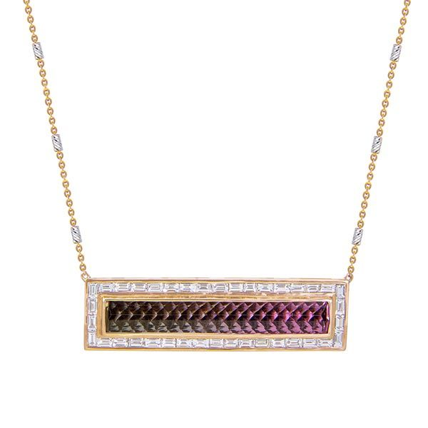 M Spalten tourmaline bar necklace
