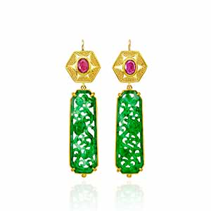 Pamela Farland Jade Earrings 92nd Street Y
