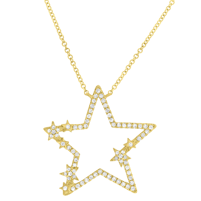Shy Creation diamond star pendant | JCK On Your Market