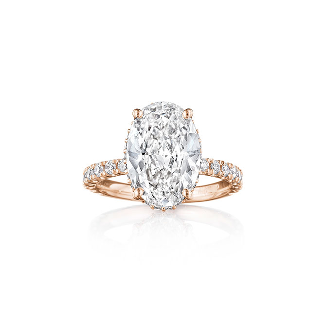Penny Preville Oval Engagment Ring in Rose Gold