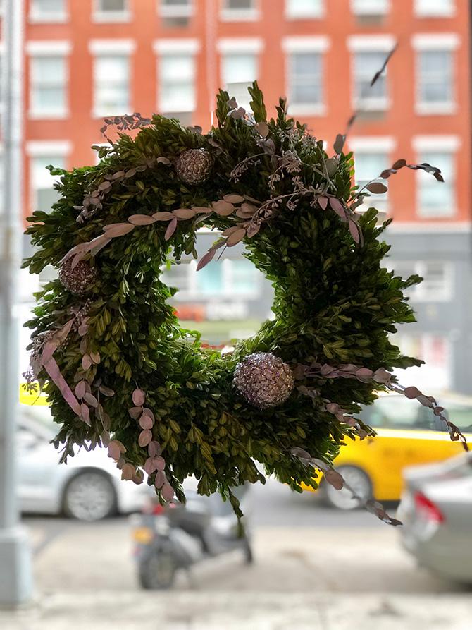 Popup Florist Glitter Wreath