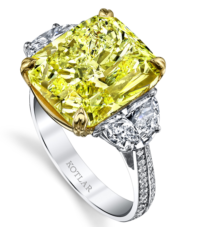 Harry Kotlar yellow diamond ring | JCK On Your Market