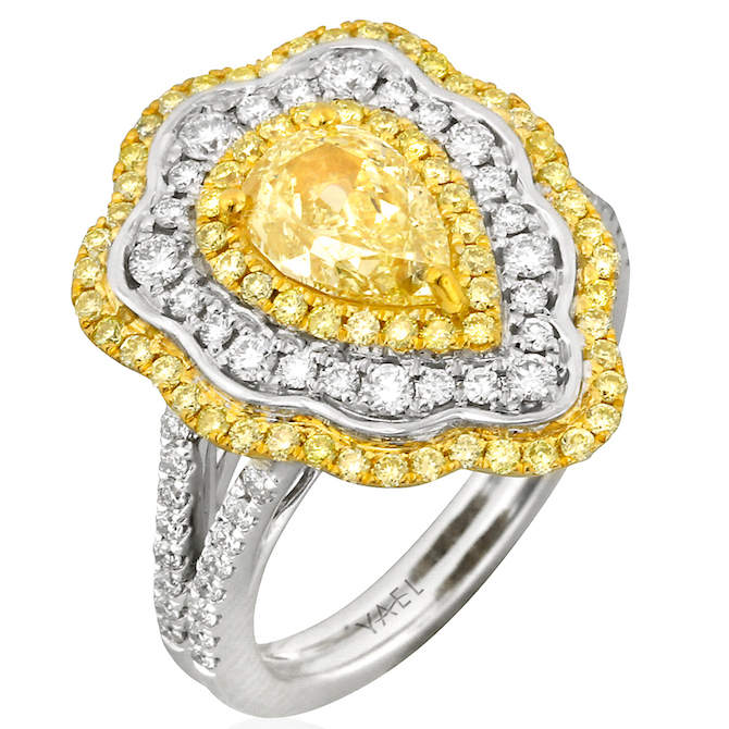 Yael Designs yellow diamond ring | JCK On Your Market