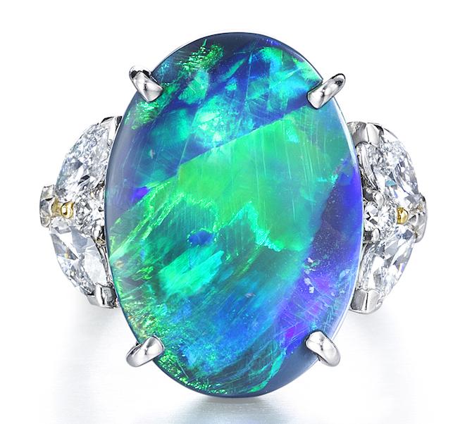 Oscar Heyman opal and diamond ring | JCK On Your Market